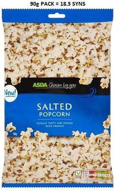 Asda Salted Popcorn Syns Slimming World Syns, Asda, Popcorn, Food, Essen, Meals, Yemek, Eten
