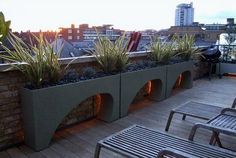 Exotic roof terrace garden design Rooftop Terrace Gardens: The Best Way To Incorporate Natural Elements Into Modern Designed Building