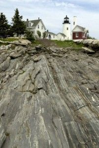 Pemaquid Point Light lighthouse.cc/pemaquid | Google map The impressive lighthouse was selected by residents to represent Maine in the 50 State Quarters Program and is one of the most photographed on the Maine coast. The scenic landscape of the park includes exposed bedrock stretching to the sea and visitor's can lounge on the rocks with the Atlantic below. Press Herald file photo