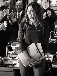 Just look at this sweet smile, how she's looking around her pricinct and mostly castle