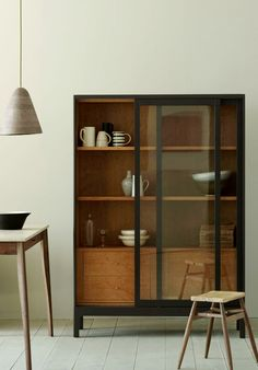cabinet with sliding glass doors | Joyce, by Pinch Design