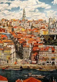 Porto City, Asian Paints, Porto Portugal, Matchbox Art, Colorful Artwork, Impressionism Art, Cool Photos, Amazing Photos, Lisbon
