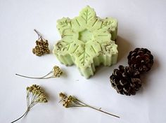Christmas soap Snowflake soap Christmas favors stocking stuffer Bath favors Rustic Christmas gift Herb scrub Peeling natural vegan organic soap handmade soap Artisan soap Christmas party decor