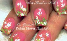 DIY Easy White Flower Nail Art #flowernails #promnails #prom2016 #promideas #nails #nailart #howto #easy #DIY #DIYnails #springnails #flower #flowers