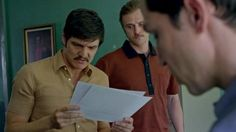 Pedro Pascal and Boyd Holbrook in Narcos (2015)