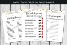"""Virtual Bridal Shower Games, Online Bridal Shower Games   Etsy. Hosting a virtual bridal shower? Use these fun games to still engage guests to play along and have fun showering the bride online! Just email prior to your virutal shower or save to your computer and """"share"""" your screen during the online shower. You can also download and print as many copies as you need for an in-person bridal shower as well #virtualbridalshower #digitalbridalshower #onlinebridalshower #virtualbridalshowergames… Digital Invitations, Printable Invitations, Party Printables, Printable Bridal Shower Games, Bridal Shower Invitations, Bachelorette Themes, Star Citizen, Travel Baby Showers, Fun Games"""