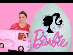 GIANT Barbie SURPRISE Egg Disney Princess Dolls Barbie Playsets Motorhome Largest Kinder Egg Video - YouTube