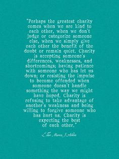 Charity Quote Printable // lemon squeezy home