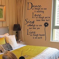 Wall Stickers Wall Decals, Sunflower PVC Wall Stickers – USD $ 9.99