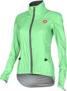 Women s Cycling Gear · Womens Cycling Jackets · Castelli Donnina Rain Jacket  (Green Fluo - Front) 2fea2d073
