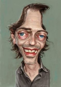 Caricature of Steve Buscemi by Ralf Ricker.