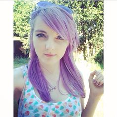 Ldshadowlady with her new purple hair! Still at cute as ever!