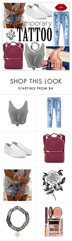 """""""Good tattoo"""" by julietarequena on Polyvore featuring Sophie Hulme, Flash Tattoos, Forever 21 and temporarytattoo"""