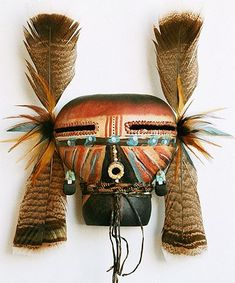 Terra Cotta Kachina Gourd Mask by Robert Rivera at the Torres Gallery, Santa Fe, New Mexico, US. Source by mask Native American Masks, American Indian Art, American Indians, Indian Tribes, Native Indian, Native Art, Arte Tribal, Tribal Art, Painted Gourds