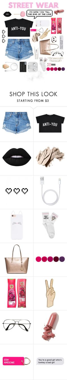"""""""Anti-you"""" by mintmila ❤ liked on Polyvore featuring Nobody Denim, Lime Crime, Bobbi Brown Cosmetics, Retrò, H2O+, Forever 21, Yeah Bunny, Deborah Lippmann, Lucky Brand and ZeroUV"""