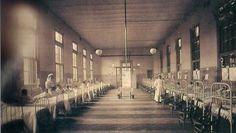 Hospital de Niños, desde 1896 funciona en la calle Gallo. Ahora lleva el nombre de su fundador Ricardo Gutierrez. Foto 1925