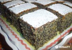 Lusta asszony sütije mákkal vagy dióval Hungarian Desserts, Hungarian Cake, Hungarian Recipes, Sweet Cakes, Homemade Cakes, Desert Recipes, Cakes And More, No Bake Desserts, Cake Recipes