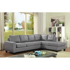 Found it at AllModern - Muttontown Reversible Chaise Sectional