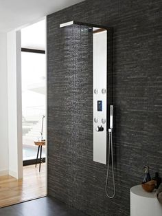 Hudson Reed Genie Chrome LED Thermostatic Shower Tower with 4 Body Jets Wet Room Bathroom, Bathroom Shower Panels, Bathroom Interior, Bathroom Showers, Bad Inspiration, Bathroom Inspiration, Dream Bathrooms, Amazing Bathrooms, Shower Tower