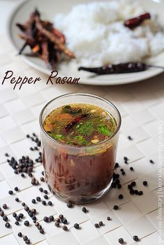 Pepper Rasam or Milagu Rasam or Indian Pepper Soup is a good remedy for cold and sore throat. Rasam recipes, South Indian Rasam, Tamil Nadu Pepper Rasam.