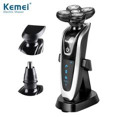 Kemei5886 New 3 in1 Washable Rechargeable Electric Shaver Triple Blade Electric Shaving Razors Men Face Care 5D Floating Price: INR 2258.80239 | India
