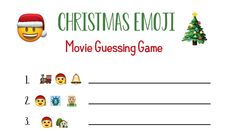 If you're looking for fun Christmas party games, these are going to make your party a huge success! Guess the Christmas songs or movies just based off the emojis. All you need to do is print and play.