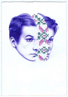 Nuria Riaza's psychic ballpoint pen drawings – Fubiz Media