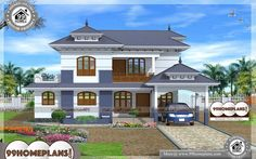 House Front View Indian Style - 2 Story 2235 sqft-HomeHouse Front View Indian Style – 2 Story 2235 s Home Design Images, House Design Pictures, Best Modern House Design, Cool House Designs, 4 Bedroom House Plans, House Floor Plans, Indian Style, Beautiful Home Designs, Beautiful Homes
