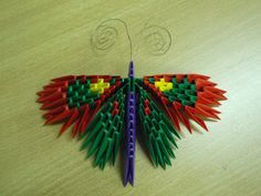 3D+Origami | 3D Origami Butterfly by ~bartlq on deviantART
