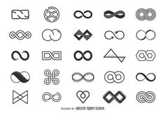Infinity logo template collection