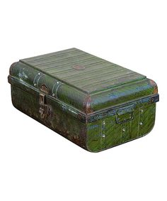 Take a look at this Distressed Green Vintage 1950s Iron Traveler's Storage Trunk on zulily today!
