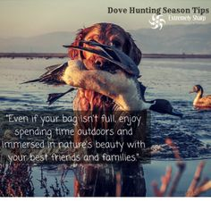 It's the experience that matters. Enjoy a great time being outdoors with your family this weekend | Dove Hunting Season | Extremely-Sharp |