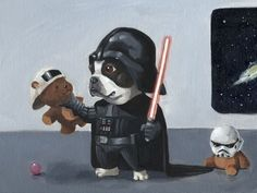 These Weirdly Cute Paintings Feature Dogs As Star Wars Characters