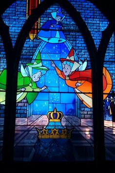 Stain glass windows in the castle