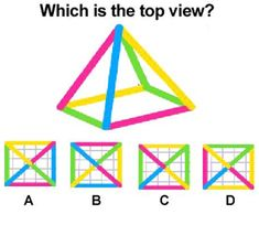 Top view brain teaser