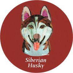 マイ @Behance プロジェクトを見る : 「027   Siberian Husky (Red)」 https://www.behance.net/gallery/42193581/027-Siberian-Husky-(Red)