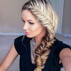 Hairstyle, braid, flower,