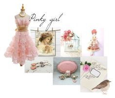 """Pinky girl"" by pupillae ❤ liked on Polyvore featuring vintage"