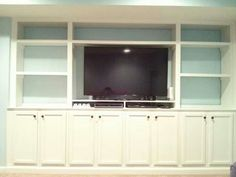 Custom Built Ins, Made By Myself And Hubby Using Stock Kitchen Cabinets