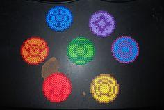 Lantern Corps perler beads!