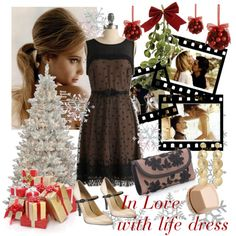 Great everything! Love the hair :) In Love With the Holiday Dress, created by vaninafv.polyvore.com