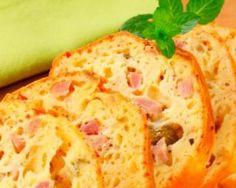 Cake de saumon et jambon au fromage maigre