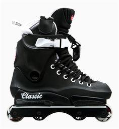 USD Classic Throne 80 aggressive skates complete setup