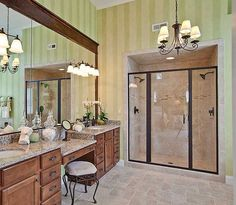 Master Bath: one day I will have a two person shower in my master bath.  Oh, and a chandelier too. Duh!