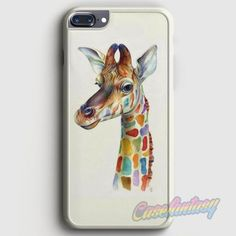 Friendly Giraffe Colorful iPhone 7 Plus Case | casefantasy