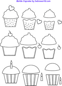 Cupcakes Templates applique