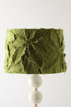 Fringed Clematis Shade, Green eclectic lamp shades