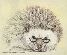 I am going to get a hedgehog, name him walter, and make him glasses just like this to wear.