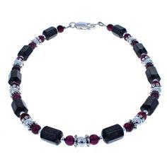 Ankle Bracelet Sterling Silver Red Garnet Silver Link Anklet 24cm Chain Ankle Chain 9.5 Inch