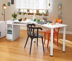 Vario Tisch! Dieser Tisch Ist Durch Seine Herausdrehbare Tischplatte Ein  Echtes Multitalent. Er Kann Mit Minimalem Aufwand In L Form Aufgestellt  Oder Als ...